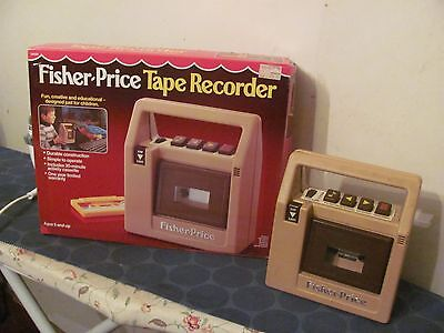 Fisher Price vintage Tape Recorder with box TESTED WORKS