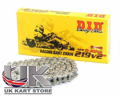 DID SDH 219 Pitch 219V2 S&B O-Ring Kette 104 Glieder UK KART STORE