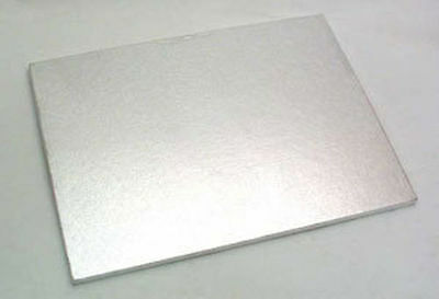 "20 x 18 "" inch LARGE OBLONG RECTANGLE CAKE BOARD DRUM Silver FAST DESPATCH!"