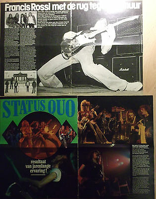4 dutch clipping PARFITT ROSSI NOT SHIRTLESS STATUS QUO 70s ROCK BOY BAND BOYS