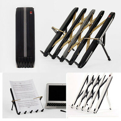 Metal Portable Folding Book Stand Laptop Cookbook Reading Holder Tablet Phone