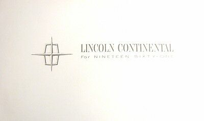 1961 Lincoln Continental Introduction Brochure, Pure Elegance, MINT Rare