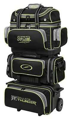 Storm Rolling Thunder Black/Grey/Lime 6 Ball Roller Bowling Bag