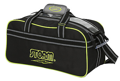 Storm Black/Lime 2 Ball Tote Clear Top Bowling Bag