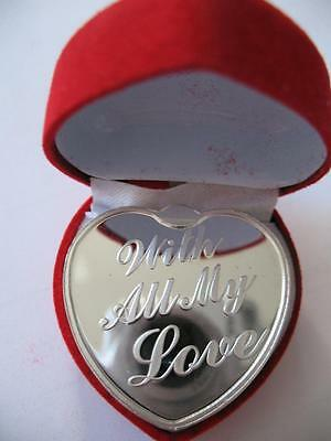 1 Oz. Silver.999  Engravable Heart Shaped  Coin For Mother's  Day Gift + Gold