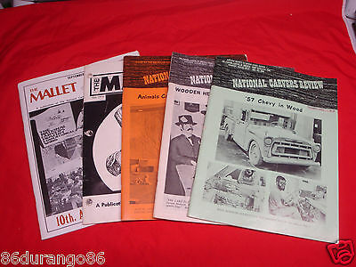 Carvers Museum Review The Mallet Wood Carving Magazines  5 Issues Chip Relief