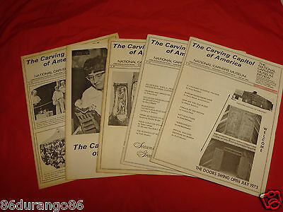 Carvers Museum Review Wood Carving Magazines 1973-1974  5 Issues Chip Relief