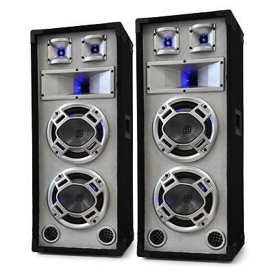 "2 Enceintes 38Cm Dj Pa Sono Disco Blanches 2000W Subwoofer 8"" Tweeter Party Club"