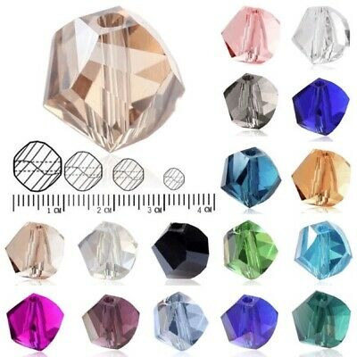 72/100pc Helix Crystal Loose Beads Jewelry Fit Necklace Bracelet 4/6/8/10mm