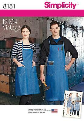 Simplicity Sewing Pattern Boys' Girls' Misses' & Men's Aprons 8151 A
