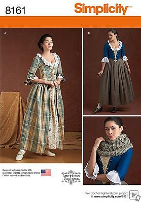 Simplicity Sewing Pattern Misses' 18Th Century Costumes 2 Designs 6 - 22 8161