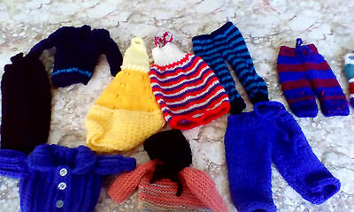 Multi Selection Of Hand Knitted Teenage Doll   Take A Look