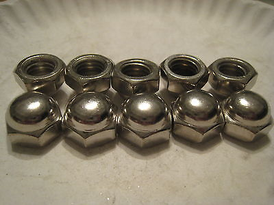 10 pcs 1/2 -13  Acorn Nuts Nickel Plated for weather resistance Playground Nuts