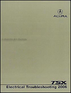 2006 acura tsx electrical troubleshooting manual wiring diagram book