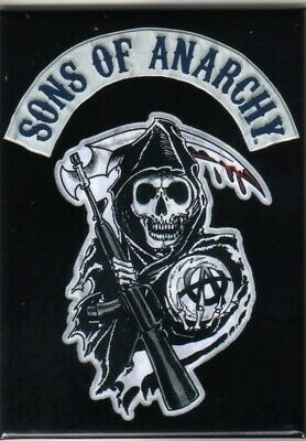 The Sons of Anarchy Reaper Logo Refrigerator Magnet, NEW UNUSED