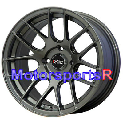 XXR 530 15x8.25 Gunmetal Grey Concave Rims Wheels Hellaflush 4x100 Drift E30 E21