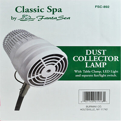 Fantasea FSC892 Nail Dust Collector with Table Clamp with LED Light