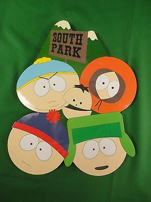"""1997 South Park Comedy Central Magnetic Plaque 11"""" Tall NEW"""