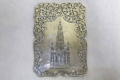 Rare Antique Solid Sterling Silver Visiting Card Case Nathaniel Mills Birm. 1843