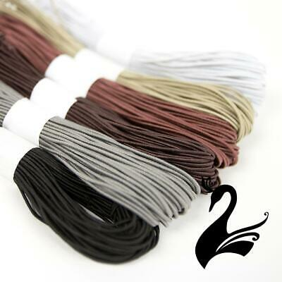 Round Millinery Elastic Cord 1mm (Price per 15m) - Craft Millinery DIY