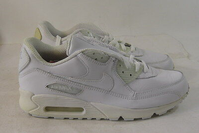 NIKE AIR MAX 90 Leather Running Shoes 302519 113 White Size 11.5 ... 0cc089c4b1