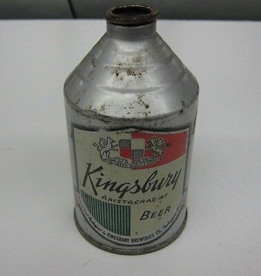 1940's Kingsbury IRTP Cone Top Beer Can Nice Crowntainer