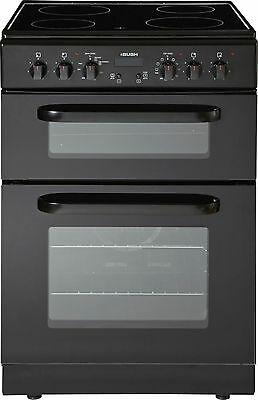 Bush BEDC60B 60cm Free Standing Double Electric Cooker - Black -From Argos ebay