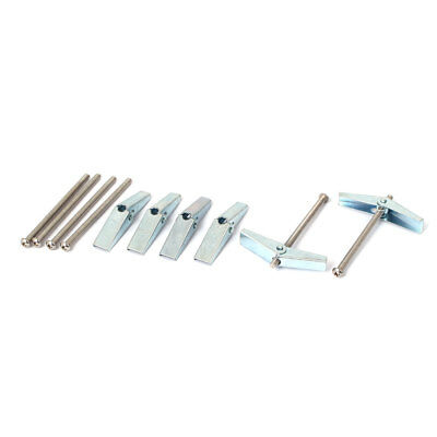 3mm x 50mm Male Thread Spring Toggle Hollow Plasterboard Cavity Wall Bolts 6 Pcs