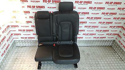 Audi Q7 2006 - 2015 2Nd Row Passenger Side Double Rear Seat Leather 0000302504