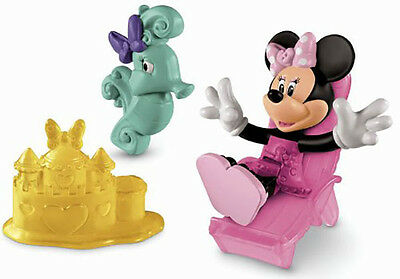 New Fisher Price Disney Junior Minnie Mouse Beach Day Figure Pack Kids 2 Years +
