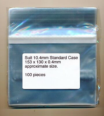 100 Cello Bags / Sleeves 153 x 130 X 40  Suit Standard CD Jewel Case