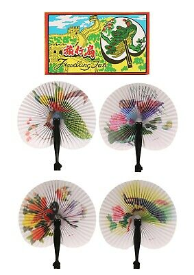 12 folding hand fans,wedding guest,table favor,Pretty Chinese Designs,period