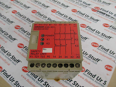 Omron G9S-301, DC 24V Safety Relay - Used Condition