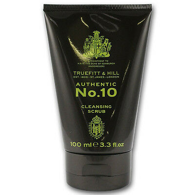 New Truefitt and Hill Authentic No.10 Cleansing Scrub 100ml for Sensitive Skin