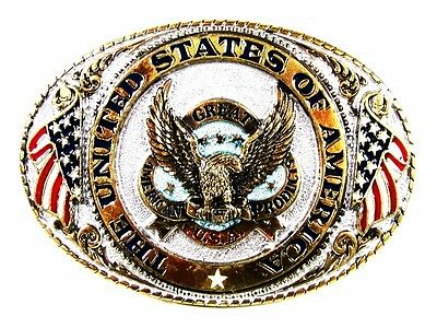 1986 Great American Products U.S.A. Belt Buckle By G.A.B. Co. 71916