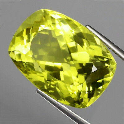 26.40 ct. VS! Großer 20.7 x 15 mm Brasilien Cushion Lemon Citrin Quarz
