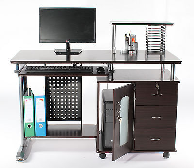 Charles Jacobs Computer PC Desk Storage Drawer Home Office Student Workstation