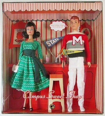Campus Sweet Shop Midge and Alan Dolls (Gold Label)(Barbie Collector) (NEW)