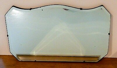 "Beautiful Antique / Vintage 22"" x 13"" Double Beveled Mirror with Wood Backing"