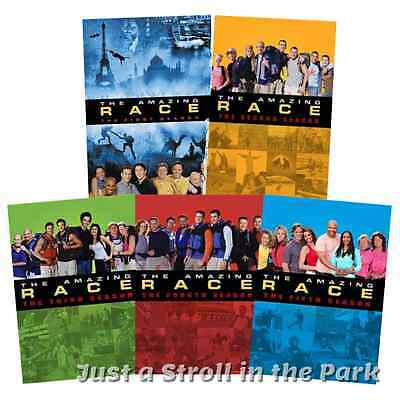 The Amazing Race TV Series Complete Seasons 1 2 3 4 5 Box / DVD Set(s) NEW!
