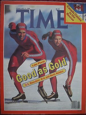 Time Magazine February 11 1980 Winter Olympic Lake Placid Eric And Beth Heiden