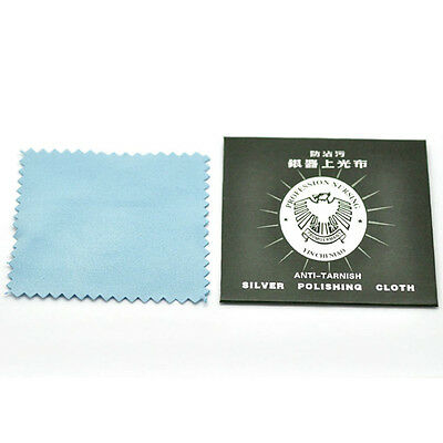 1/510x Anti-Tarnish Silver Polishing Cleaning Cloth Cleaner Platinum Jewelry NH