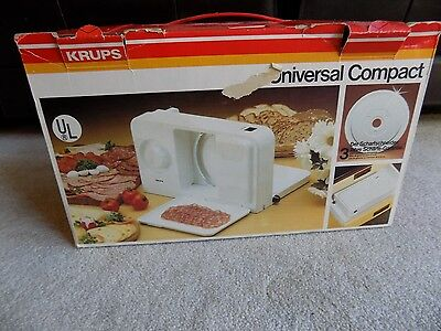 Krups Universal Compact Meat Food Slicer Made In Germany