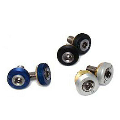 TA Self Extracting Bike / Bicycle / Cycle Crank Bolts And Dust Cap - Silver
