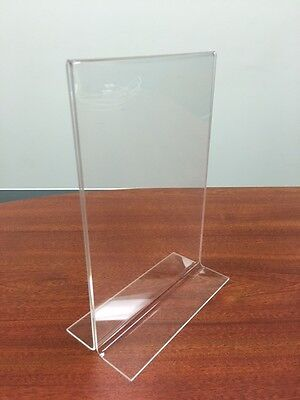 4 x A5 Clear Acrylic Double Sided Sign / Menu Holder Counter shops retail cafe