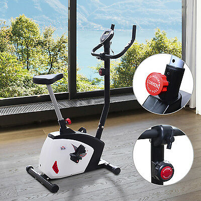 Magnetic Exercise Bike Cycle Fitness Cardio Workout 8 Level Trainer Home Machine