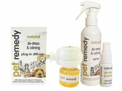 Pet Remedy Natural De-stressing and Calming Spray, Diffuser, Refills And Wipes
