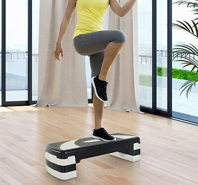 Aerobic Stepper Adjustable 3 Levels Step Fitness Training Block Board Home Gym