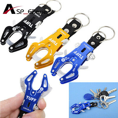 Portable Quick Release Mountaineering Aluminum Alloy Tiger Keychain Buckle Black