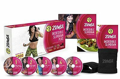 Zumba Fitness Incredible Slimdown Dvd System High-Energy Live Class New